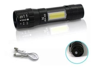 Mini Lanterna Recarregável Usb 2x1 388000w