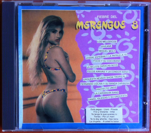 Fiebre Del Merengue 8. Cd Original, Usado
