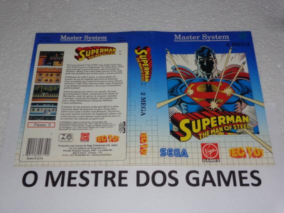 Somente O Encarte Do Jogo Superman Para Master System