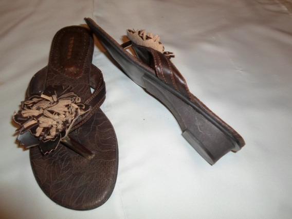 Sandalias De Cuero Nº 36 Tropea Usadas (una Vez)