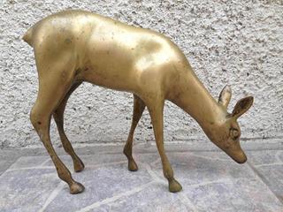 Figura Escultura Ciervo. Animales Decorativos En Bronce