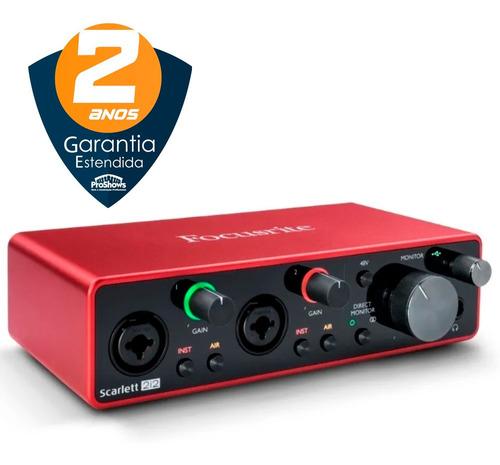 Interface De Audio Scarlett 212-3 Geração-2 Anos De Garantia