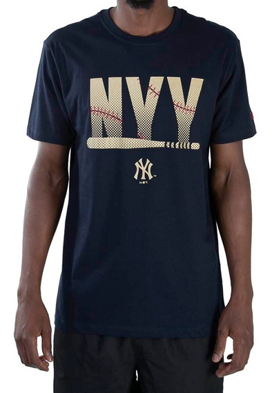 Camiseta New Era Nyy Beisebol Marinho