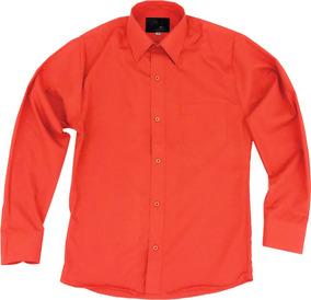 Camisa Infantil Juvenil Bailables Salidas Naranja 2 A 16