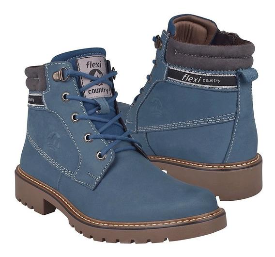 Botas Casuales Para Dama Flexi 37807 Azul