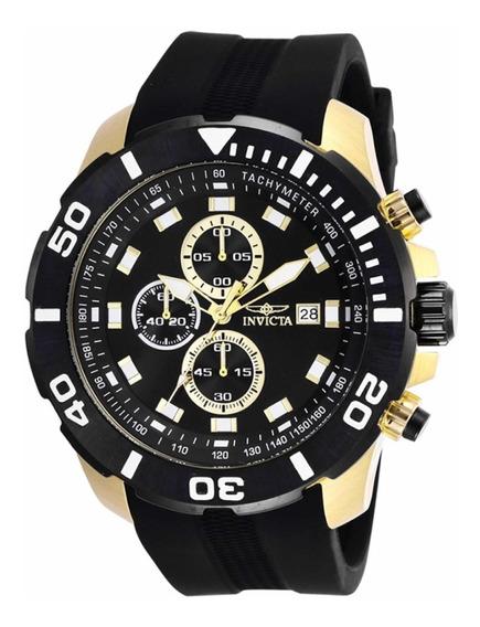 Relógio Invicta Pro Diver Dourado Preto Original