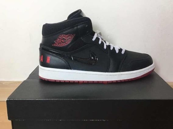 Jordan 1 Mid University Red Originales Talla 7mx 9us Rojo