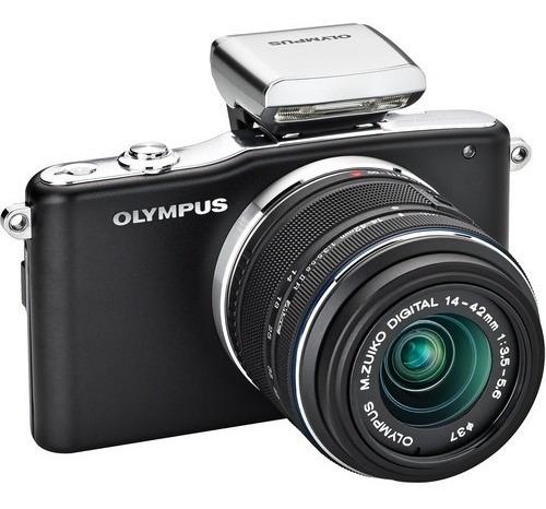 Câmera Olympus E-pm1 Micro 4/3 Digital Com Lente 14-42mm Ii