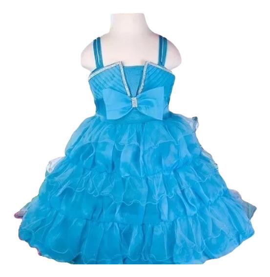 Vestido Infantil Festa Princesa Florista Balonê