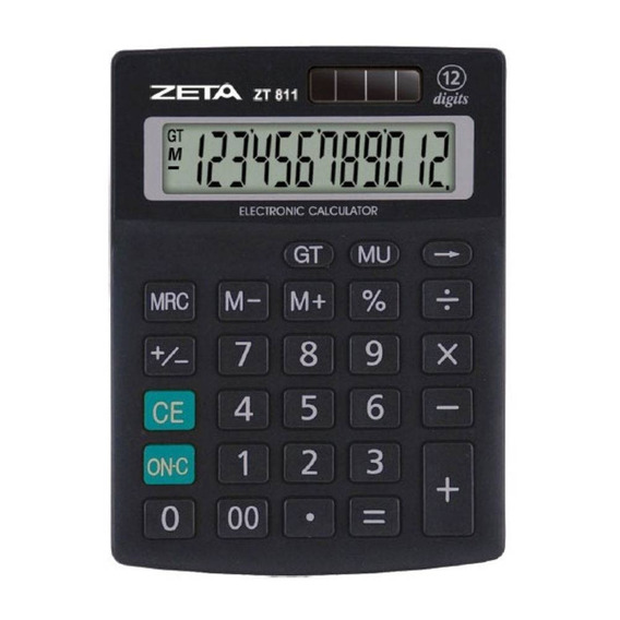 Calculadora De Mesa 12 Dig Zt811 Zeta