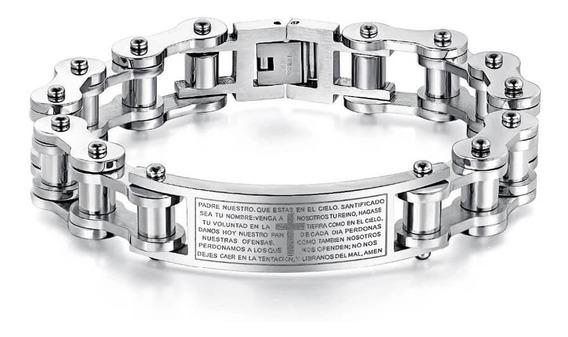 Pulseira Bracelete Masculina Aço Inoxidável Banhada Ouro