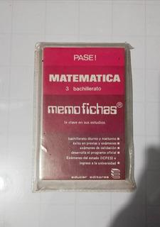 Ayuda Educativa Memofichas Matematica 3 Bachille 1980 Usada