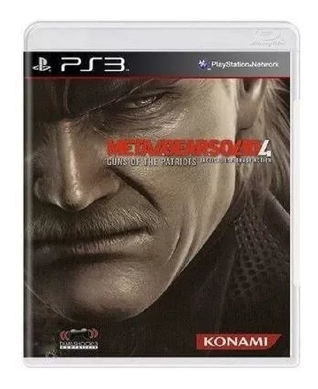 Jogo Ps3 Metal Gear Solid 4 Guns Of Patriots Midia Fisica