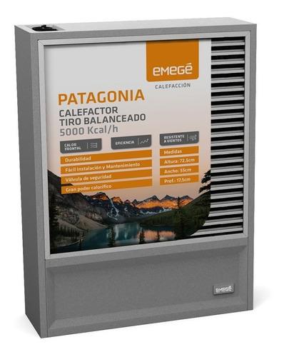 Calefactor Emege Patagonia 2019 - 9050 5000 Tiro Balanceado -- 18 Cuotas Sin Interes