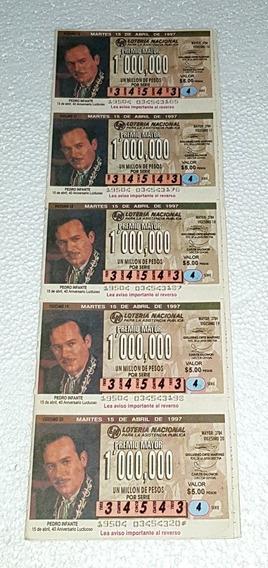 Pedro Infante Billete De Loteria Planilla Completa