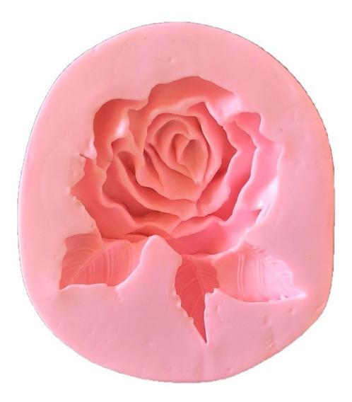 Molde De Silicone Flor Rosa Biscuit Pasta Americana