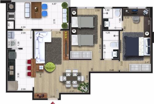 Apartamento Residencial Lila Centro, Mongaguá. - Ap0046
