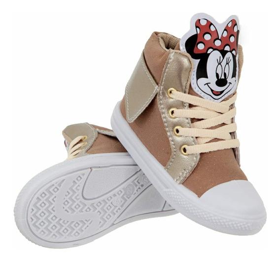 Combo 3 Pares De Tênis Botinha Infantil Minnie E Mickey Top