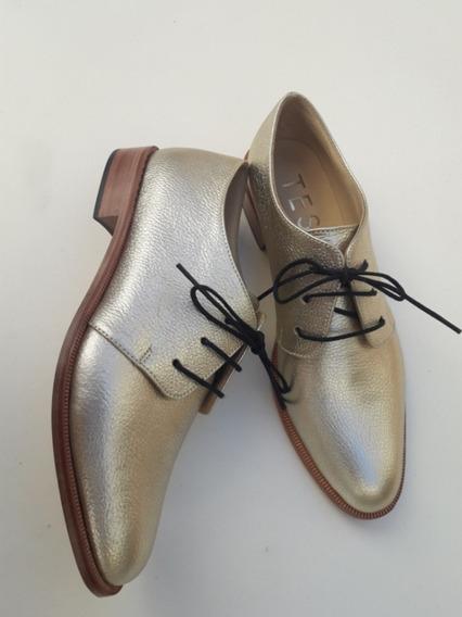 Zapatos Acordonados De Mujer Mocasines Oxford Abotinados