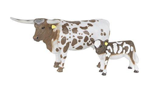 Big Country Farm Toys Longhorn Vaca Y Ternero