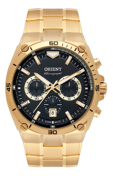 Relógio Orient Mgssc030 Dourado Masculino Frete Grátis