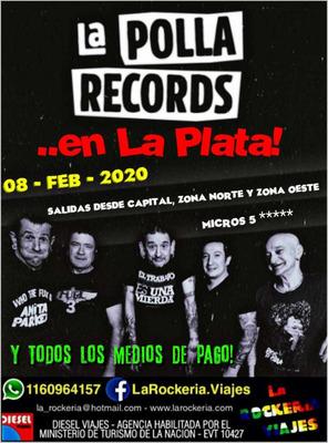 La Polla Records En La Plata. Traslados, Charter, Omnibus.
