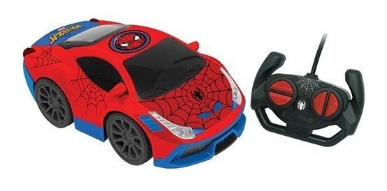 Carro Controle Remoto 7 Funções Spider-man Aranha - Candide