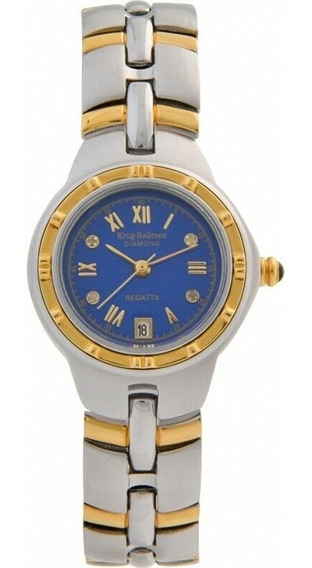 Relógio Krug-baümen 2615dl Regatta 4 Diamond Blue Dial