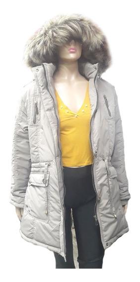 Queen Store Camperas De Mujer Inflable Acolchado Con Guata Tapado Camperon Abrigo Capucha Desmontable Ideal Frio Calidad