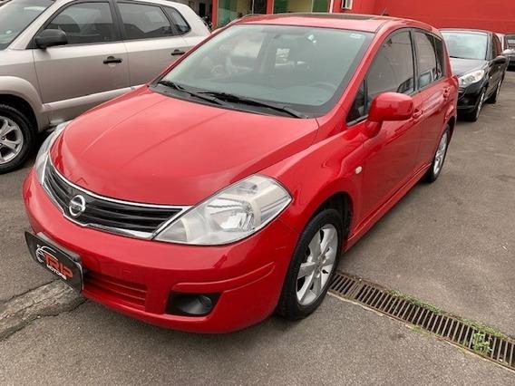 Nissan Tiida 1.8 Sl 2013 Ùn.dono Teto Couro Vermelho Top