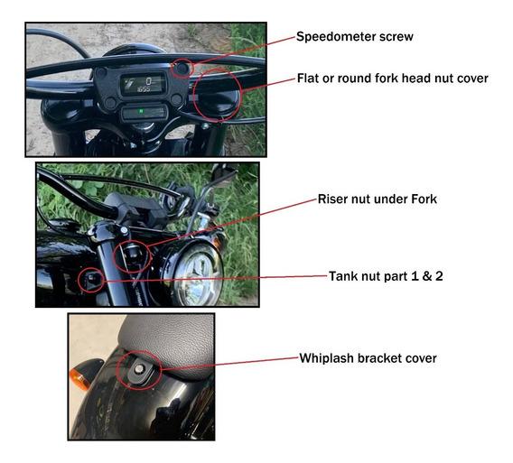 Acabamentos Proteção Harley Davidson Softail Street Bob