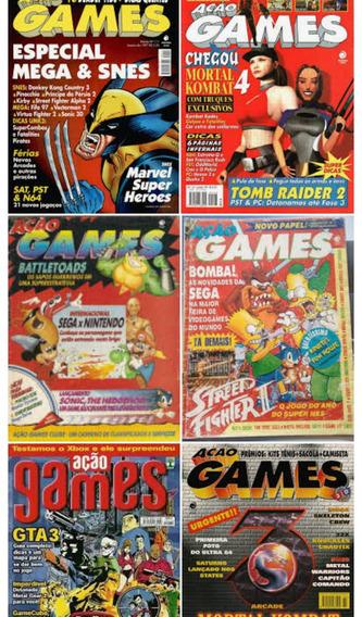 Coleção Revistas Ação Games (leia Toda A Descrição)