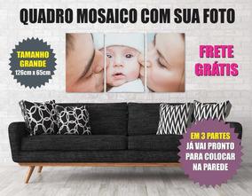 Lindo Quadro Mdf Foto Mosaico Foto Bebé Criança Neném