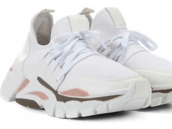 Tênis Casual Super Chunky Dad Sneaker Zatz Branco Colorido