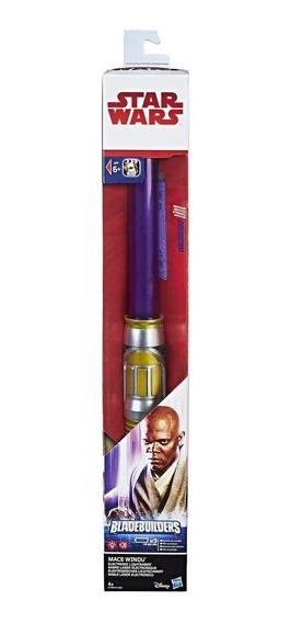 Sable De Luz Electrónico Star Wars Mace Windu 82 Cm Hasbro