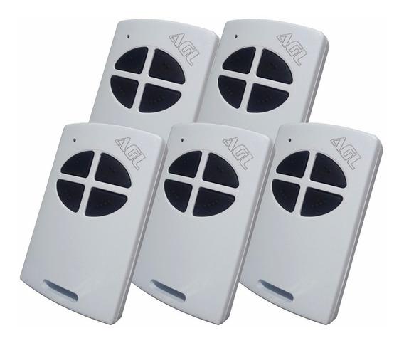 5 Controle Remoto Agl 4 Canais Para Alarme Portão 433