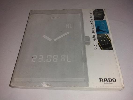 Instructivo Reloj Rado Analogo Digital Cuadrado