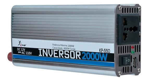 Inversor Transformador Conversor 2000w Veicular 12v 110v 550