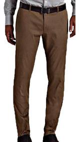 Pantalon Chupin Saten Hombre Pantalon Vestir Bolsillo Chino!