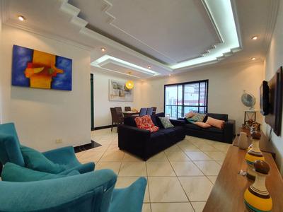 Cobertura Para Alugar Com Vista Para O Mar 127m² - Cidade Ocian - Praia Grande - 387 - 33889485