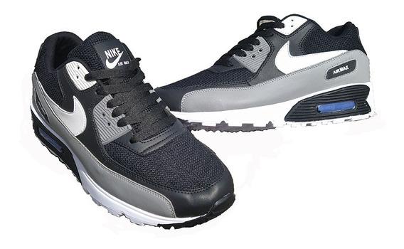 Nike Airmax 90 Gris Con Negro