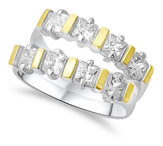 Anéis Aparadores De Aliança Prata 950 Ouro 12k 2 Pçs Barato