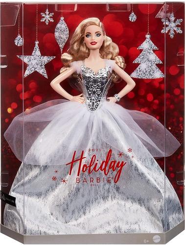 Imagem 1 de 7 de Barbie Holiday 2021 Signature Collector Natal Festa Loira