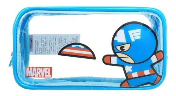 Necessaire Miniso Marvel - Capitão América