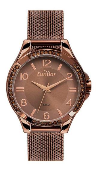 Relógio Condor Feminino Co2035mtm/4m Marrom Lançamento