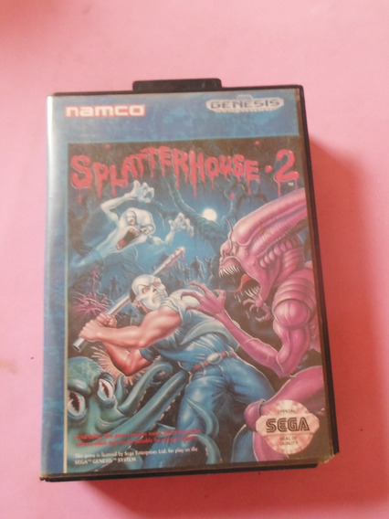 Splatterhouse 2 Original Usa Raro Para Mega Drive Sega