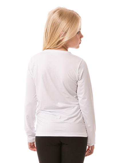 Camiseta Proteção Uv Fpu50+ Infantil Feminina Manga Longa