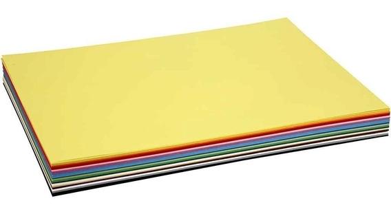 Papel Cartulina Escolar 45x63cm Paq X 25 Un. Vs Colores