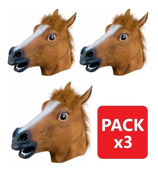 Pack 3 Máscara Cabeza De Caballo