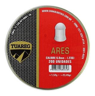 Chumbinho Munição Carabina De Pressão Tuareg Ares 6.0mm 200u